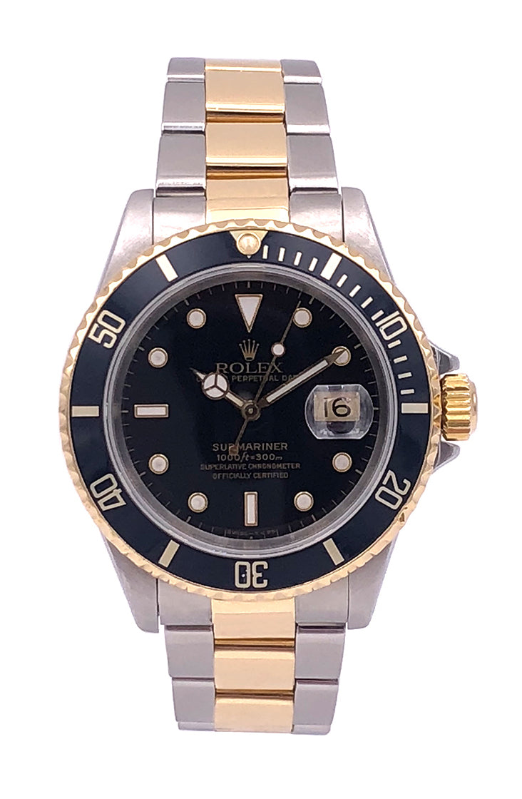Rolex Submariner 40mm Two Tone 18KT Yellow Gold/Stainless Steel – 16613