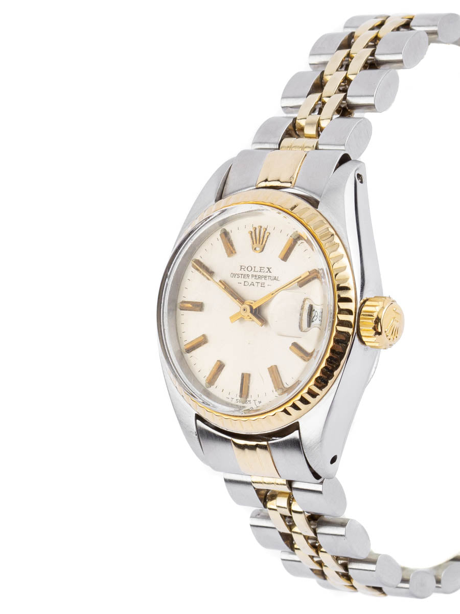 Ladies Rolex Oyster Perpetual Date Two-Tone 18kt YG/SS - 6917
