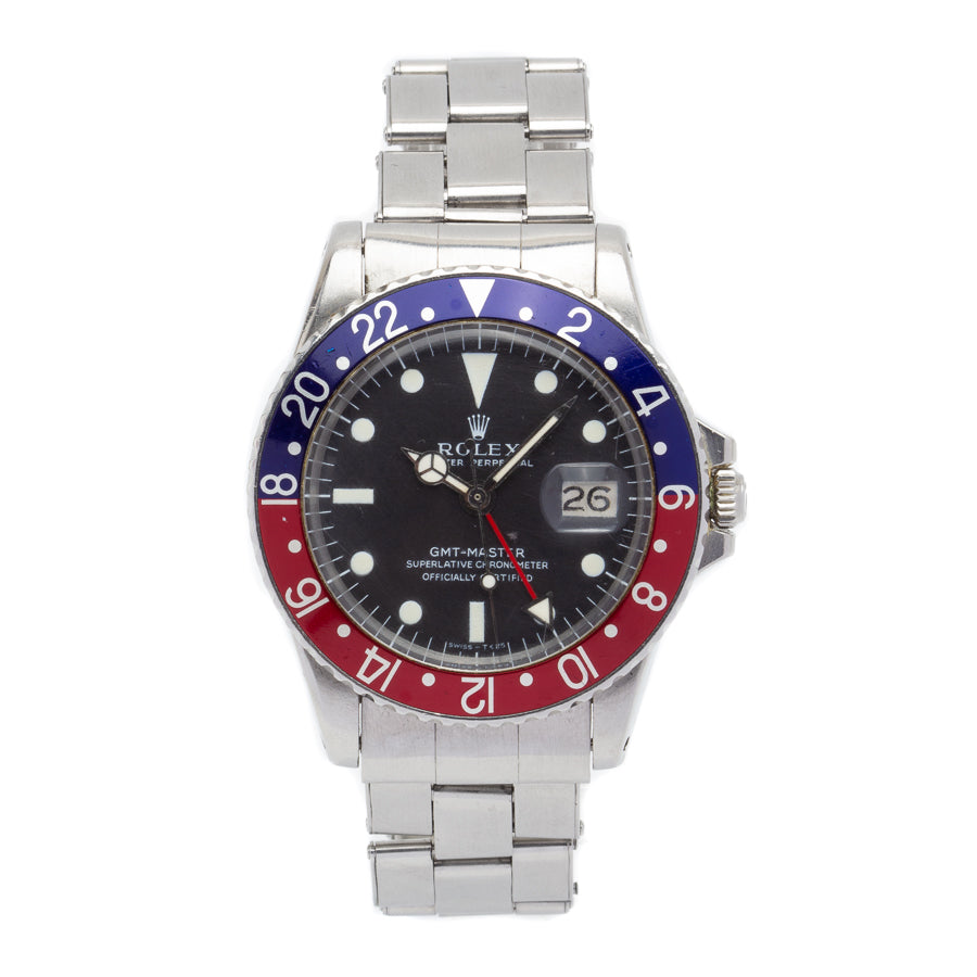 "Rolex GMT-Master ""Pepsi"" Steel Rivet Bracelet Original Papers - 1675"