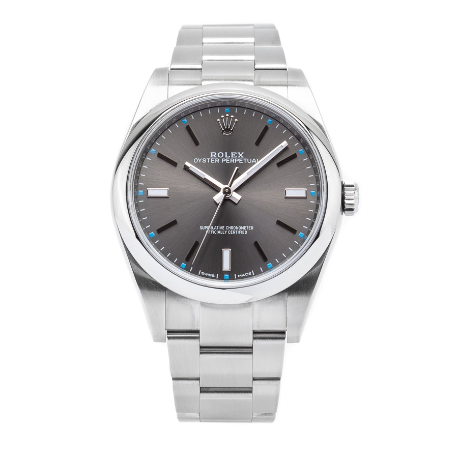Rolex Oyster Perpetual Date 39 Stainless Steel Slate Dial - 114300