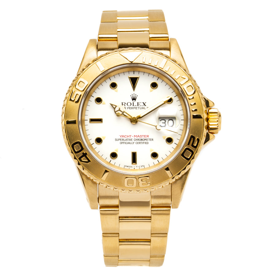 Rolex Yacht-Master 40mm 18kt Yellow Gold w/White Dial - 16628