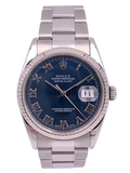 Rolex Datejust Stainless Steel Blue Roman Dial – 16234