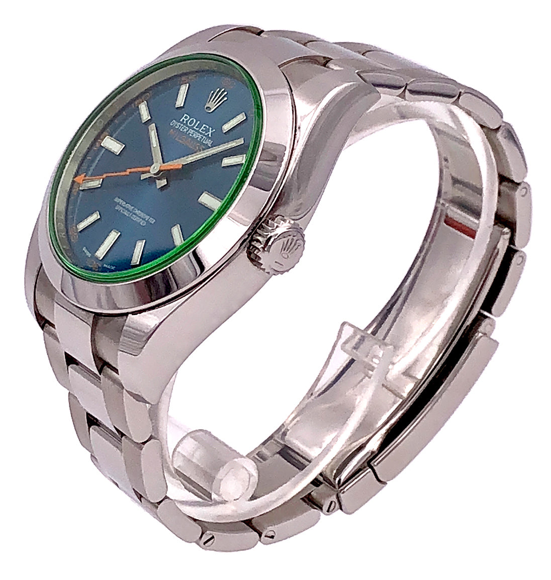 Rolex Milgauss Blue Dial Stainless Steel - 116400GV