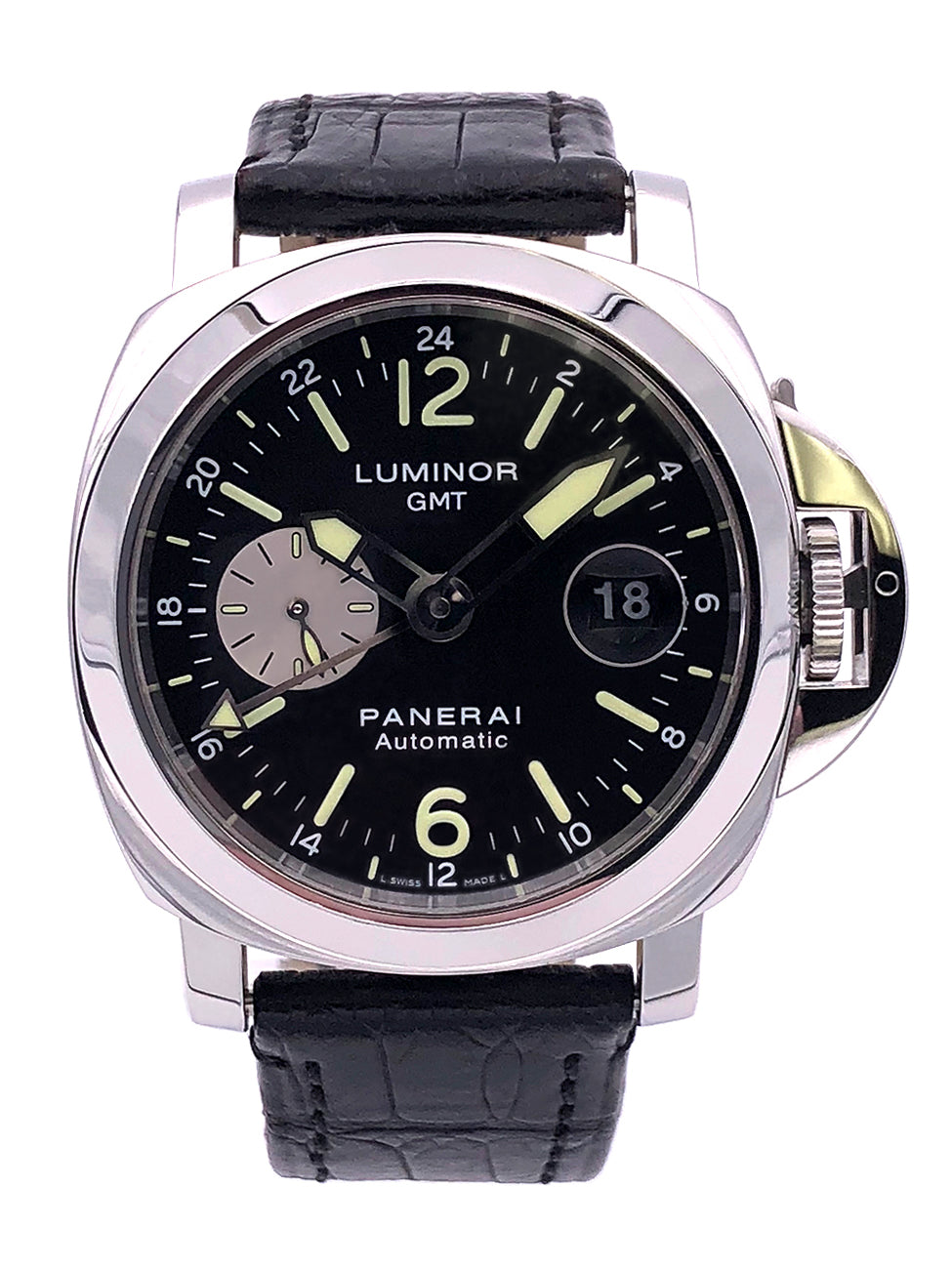 Panerai Luminor GMT Automatic 44m Stainless Steel Black Dial – Pam 088