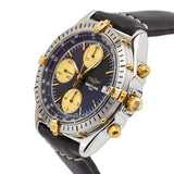 Breitling Chronomat / Crosswind 18kt Yellow Gold/SS W/Blue Dial - B13048