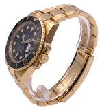 Rolex Submariner Date 18kt Yellow Gold Ceramic Bezel Box & Papers - 116618LN