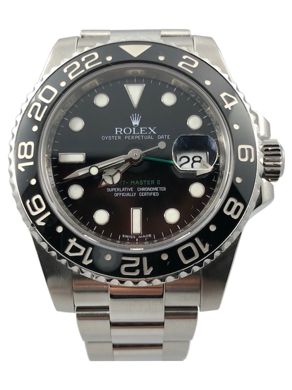 Rolex GMT-Master II Stainless Steel with Black Dial - 116710LN