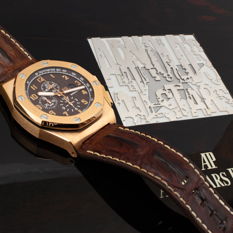 "Audemars Piguet Royal Oak Offshore ""Arnold's All Stars"" 18kt Rose Gold -26158OR.OO.A801CR.01"