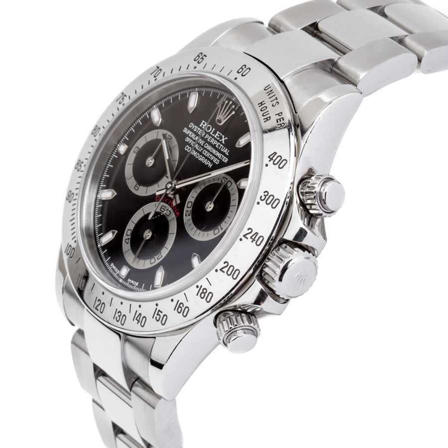 Rolex Daytona Chronograph Stainless Steel 40mm w/Black Dial - 116520