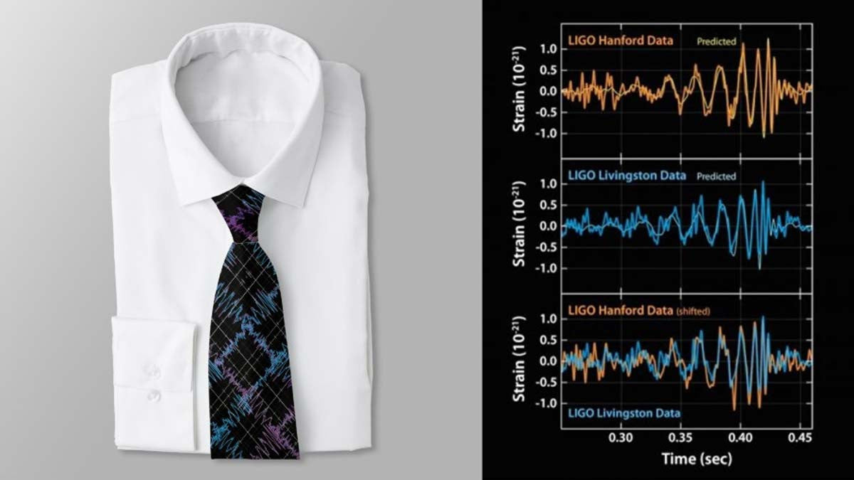 Gravitational Waves Tie now available from Zazzle