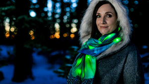 Northern Lights Scarf Photo Shoot at Mount Shasta