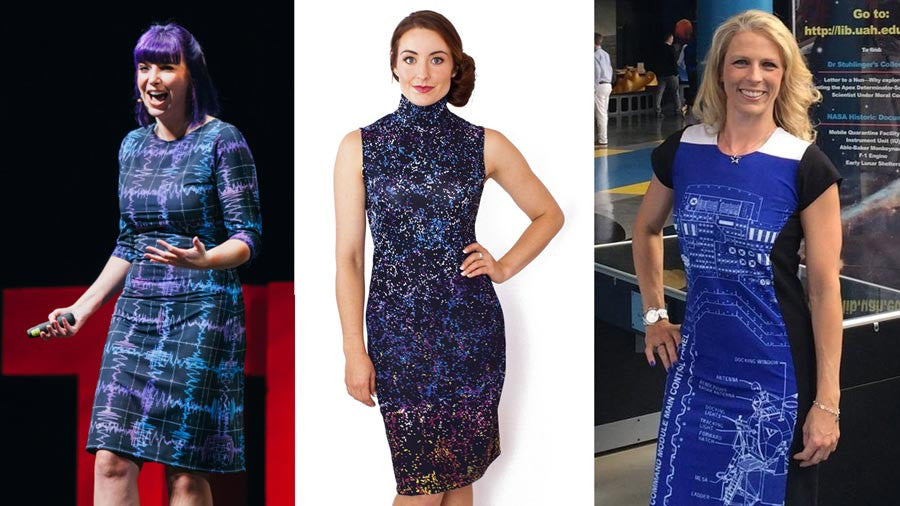 Celebrate Science with these Space-Inspired Dresses