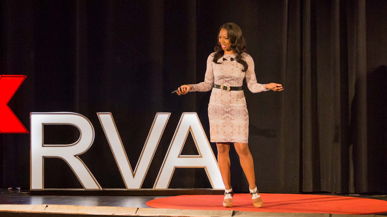 Shenova Circuitry Dress at Tedx with Keisha Howard