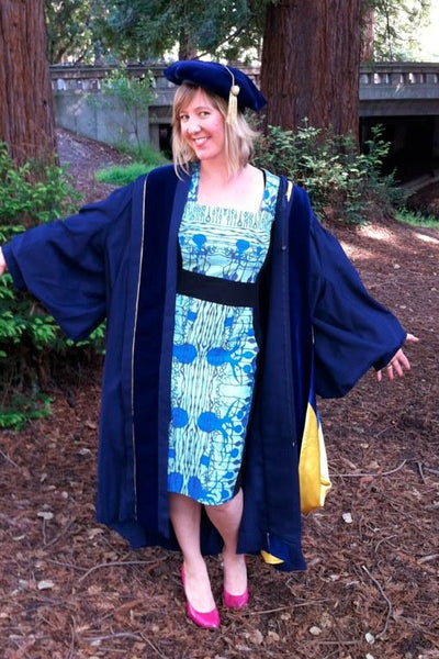 Blue Neuroscience Graduation Dress