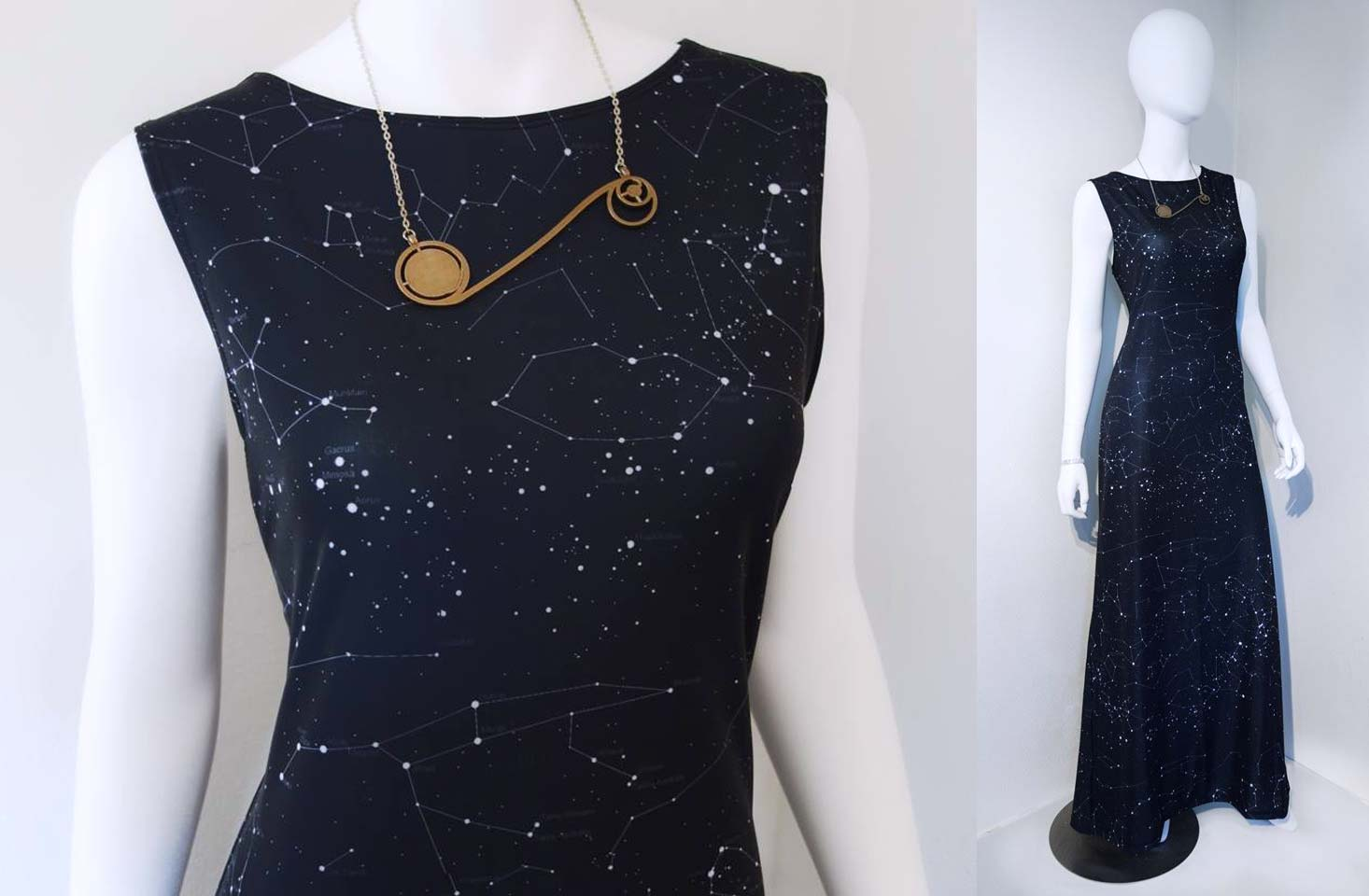 Constellation Maxi Gala Dress