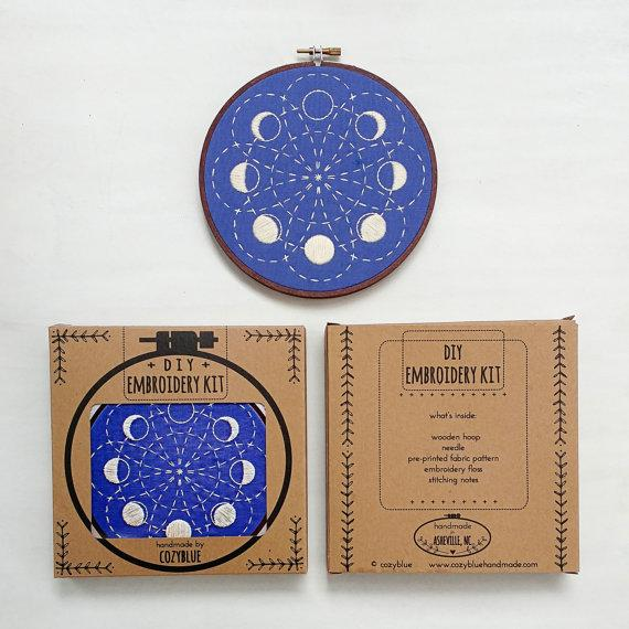 Moon Embroidery Kit