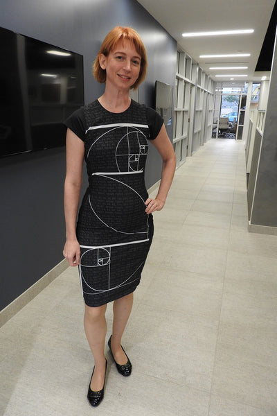 Emily Lakdawalla in Fibonacci Dress by Shenova