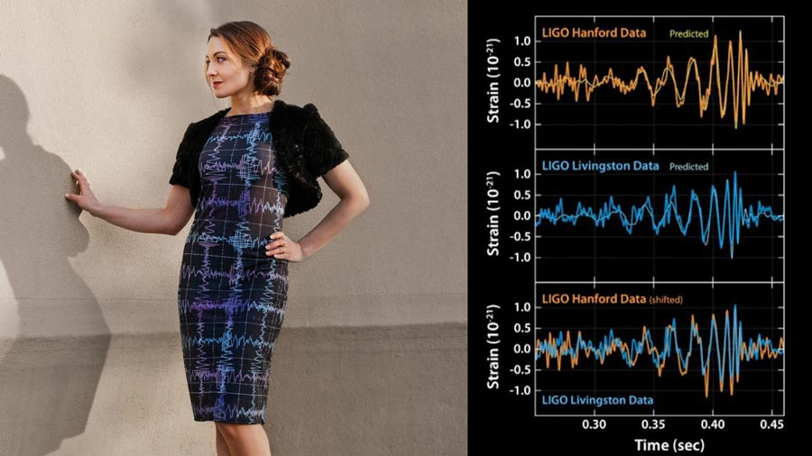 Gravitational Waves Chart LIGO Dress