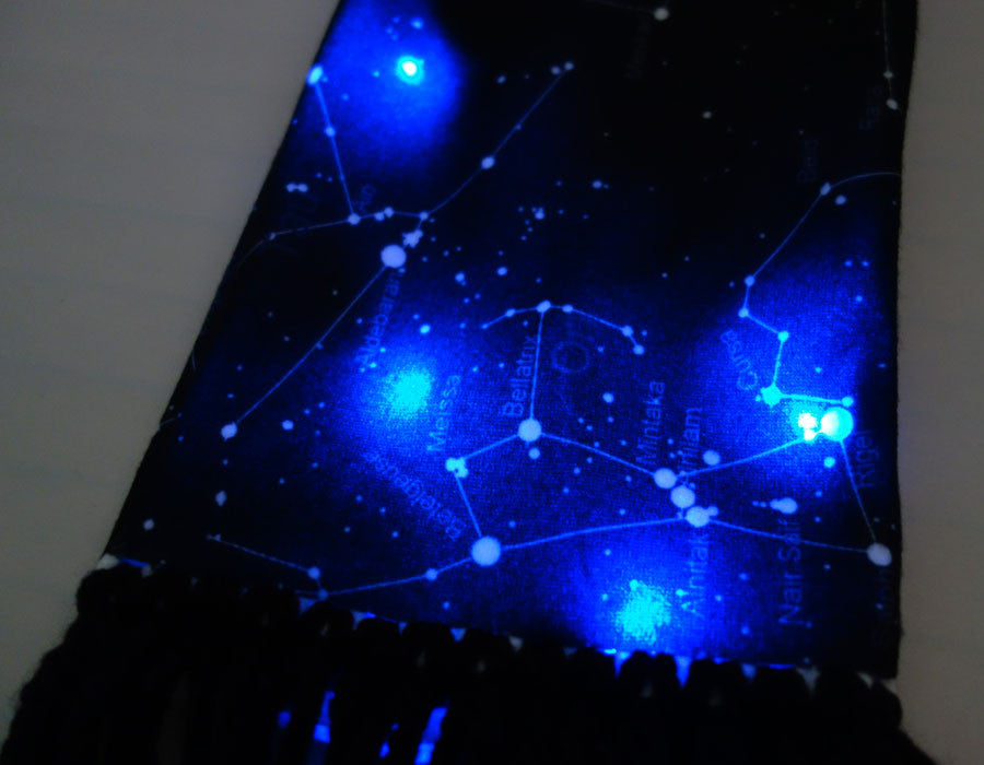 Wearable Technology LED Constellation Scarf