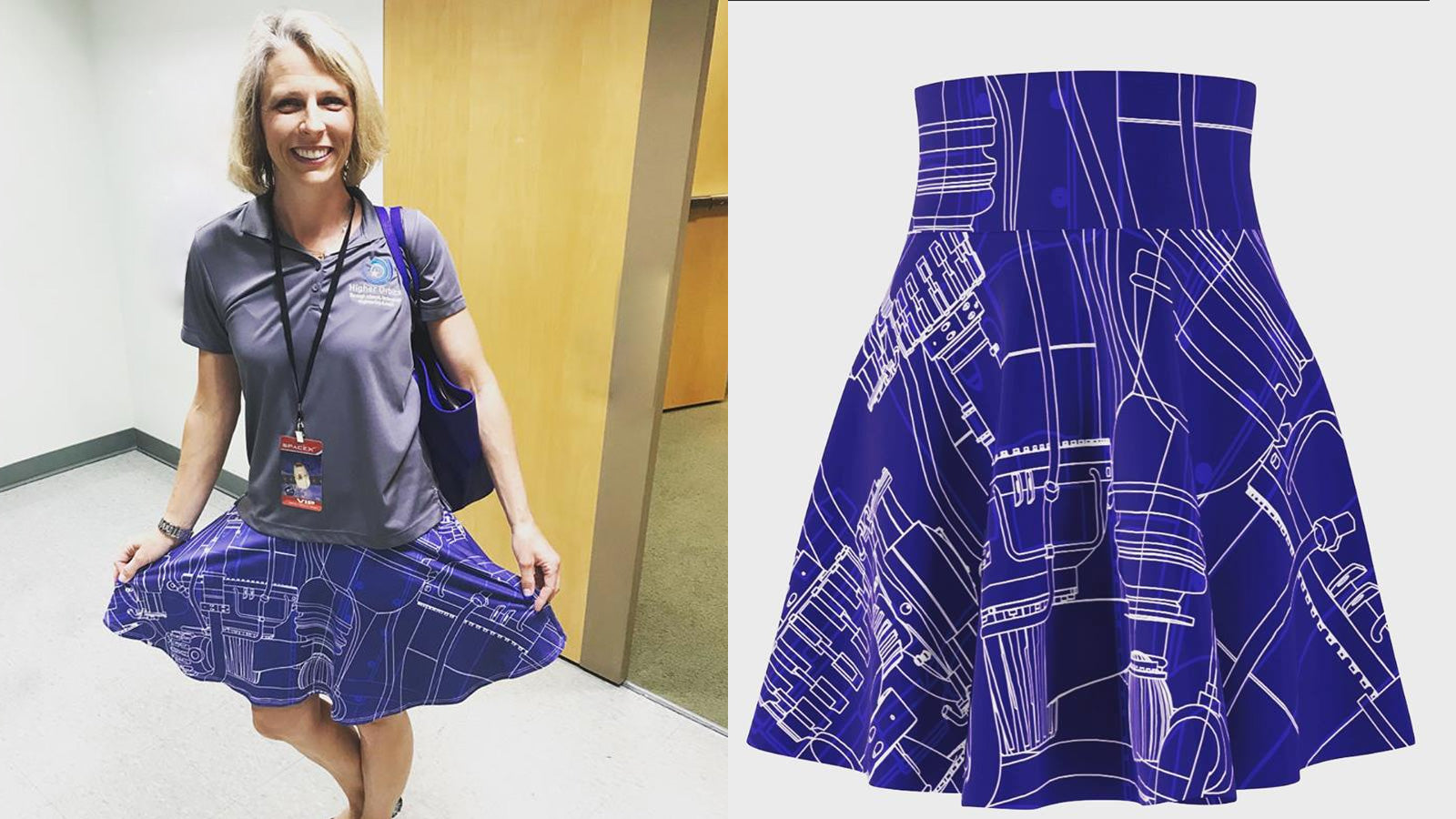 Michelle Lucas Blueprint Engineering Skirt