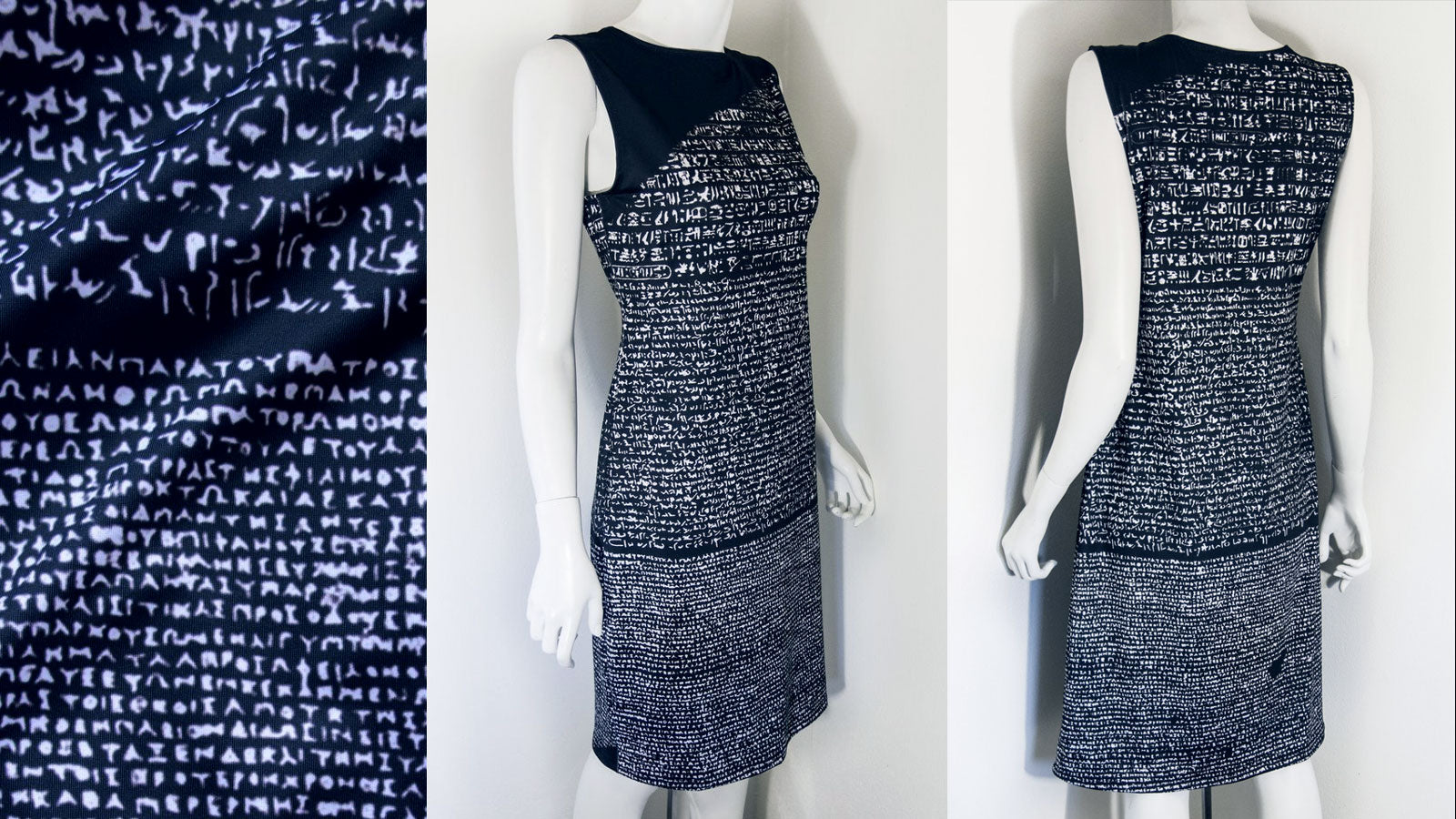 Rosetta Stone Archaeology Dress Front and Back