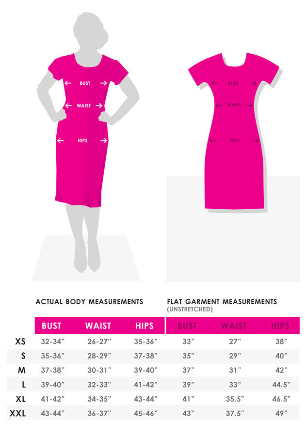 Shenova Body Measurements Chart