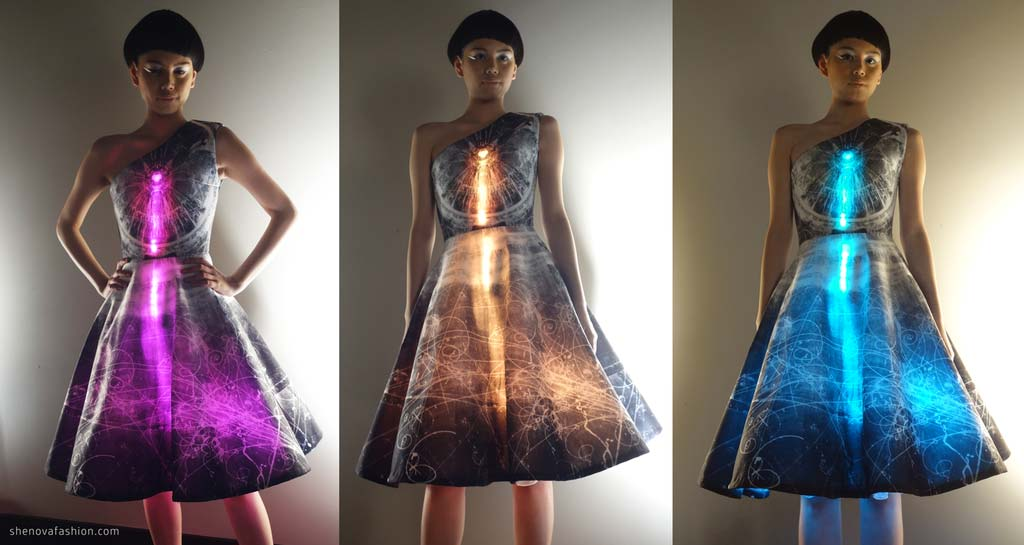 Wearable Technology LED Bluemix Dress