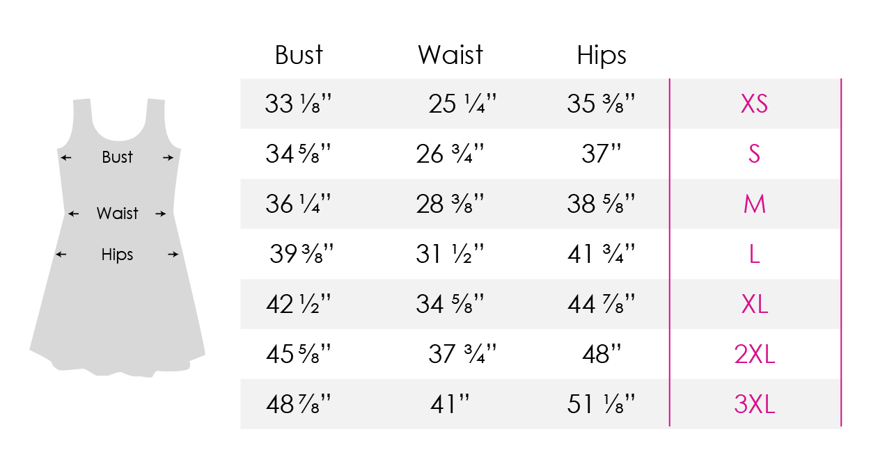 Skater Dress Measurements