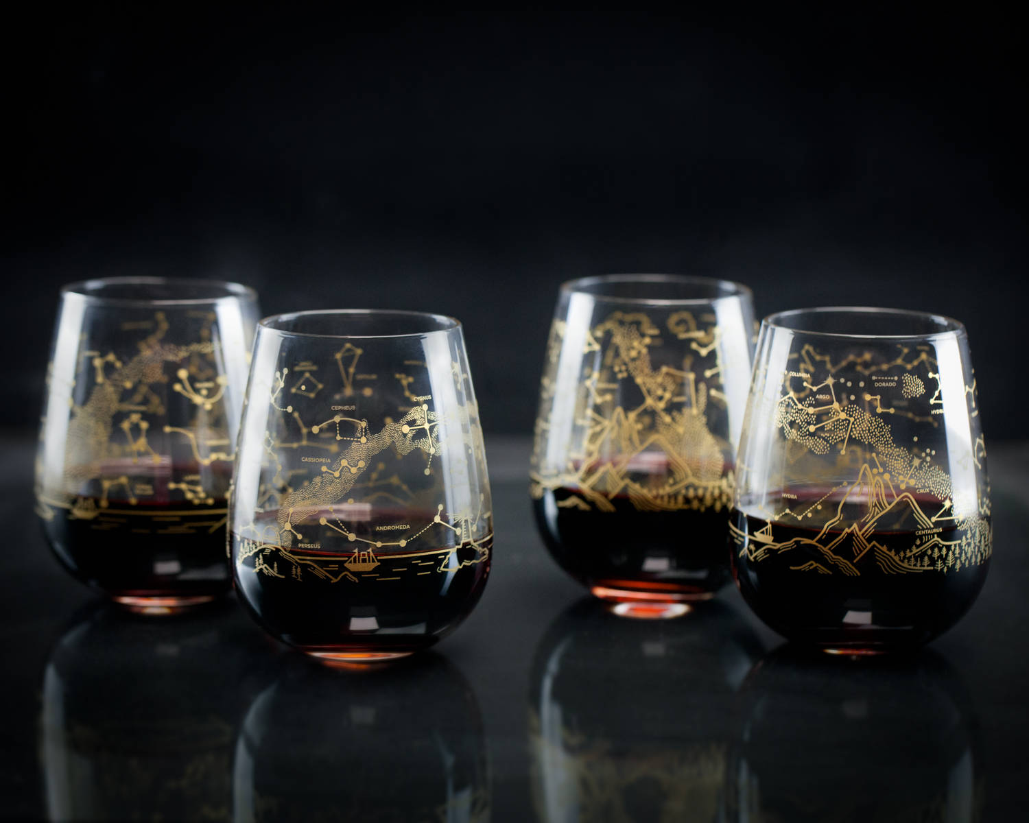Constellations Stemless Wine Glasses