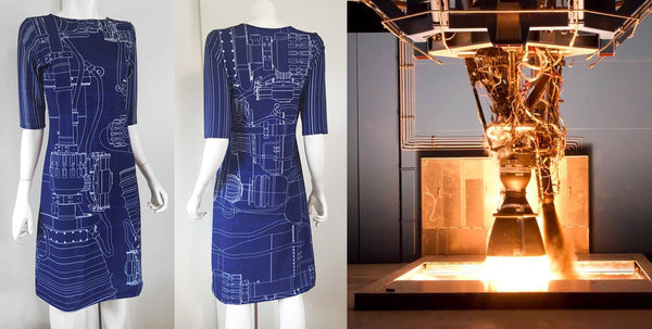 SpaceX Merlin Falcon Blueprint Dress