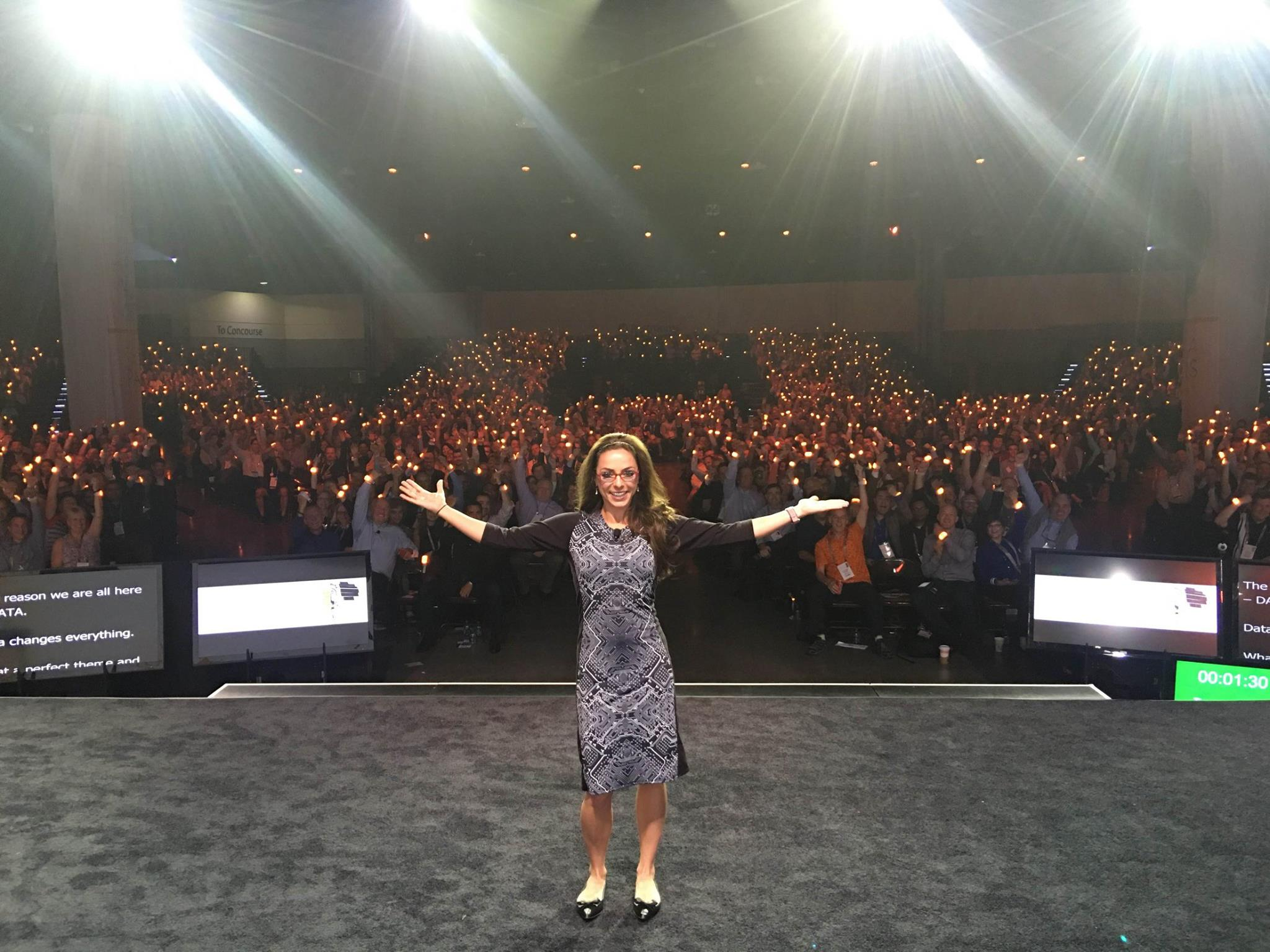 Katie Linendoll at Teradata Conference 2016