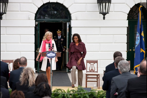 Michelle Obama and Dr Biden at Joining Forces event