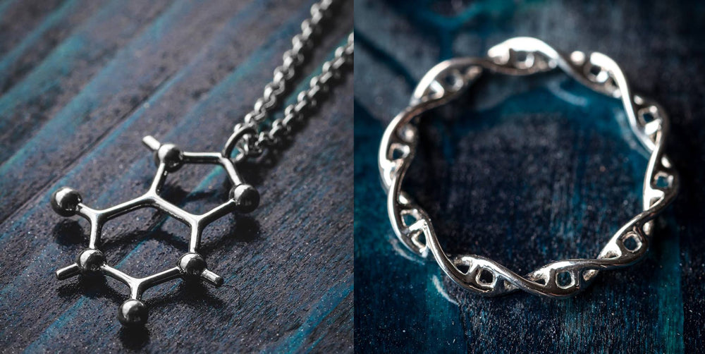 Somersault 1824 Science Jewelry necklace and ring