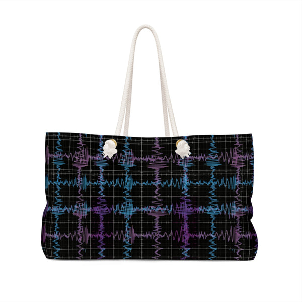 Gravitational Waves Plaid Bag Front