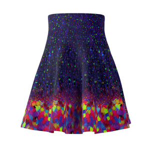 Brainbow Print Skater Skirt Front