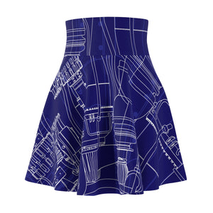 Rocket Engineering Blueprint Skater Skirt