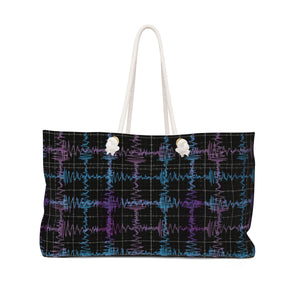 Gravitational Waves Plaid Bag Back