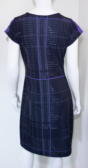 Ada Lovelace Computer Algorithm Code Dress Back Black