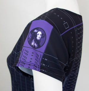 Ada Lovelace Computer Algorithm Code Dress Portrait Sleeve Closeup