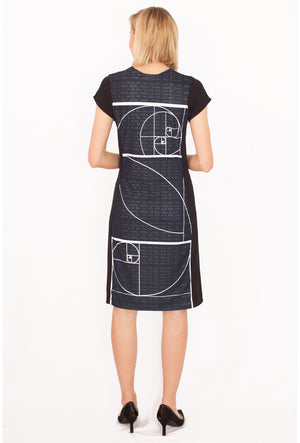 Fibonacci Sequence Dress Back