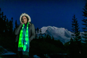 Aurora Borealis Northern Lights Fleece LED Light Up Scarf