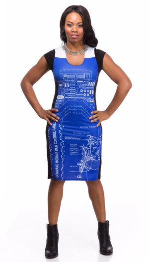 blueprint rocket scientist Apollo Lander dress