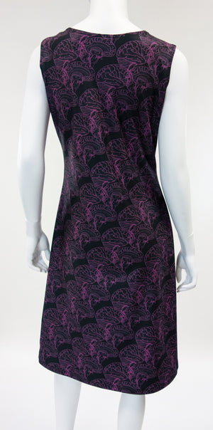 Brain Print Dress Back