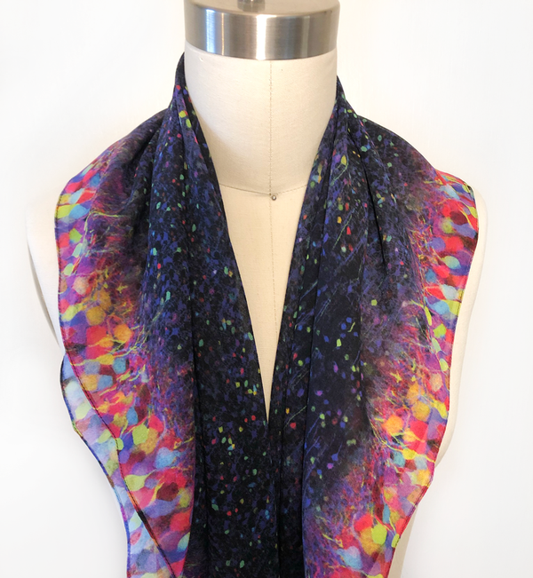 science scarf neuroscience brainbow shenova