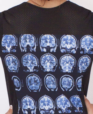 Brain Scan Dress Closeup