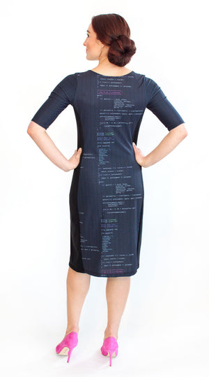 Computer Code Programming Dress Back