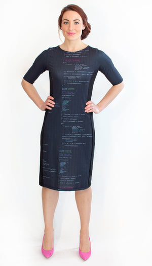 Computer Code Programming Dress Front