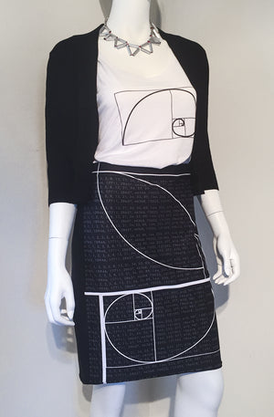 Fibonacci Sequence Pencil Skirt