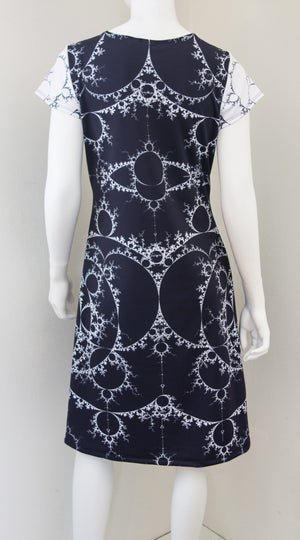 Fractal Math Mandelbrot Dress Black Back