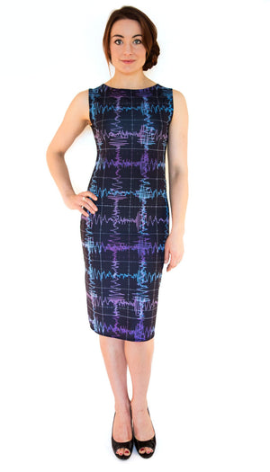 Gravitational Waves Plaid STEM Dress